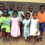 Orphans and Vulnerable Children (OVCs) with Distributed School Supplies